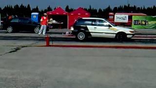 Mitsubishi Colt GTI VS Audi A3 1/4mile drag race