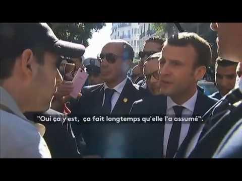 Macron Tacle Un Algérien Sur La Colonisation !