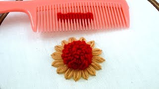 Hand Embroidery amazing Tricks # 19 | easy tricks with hair comb.