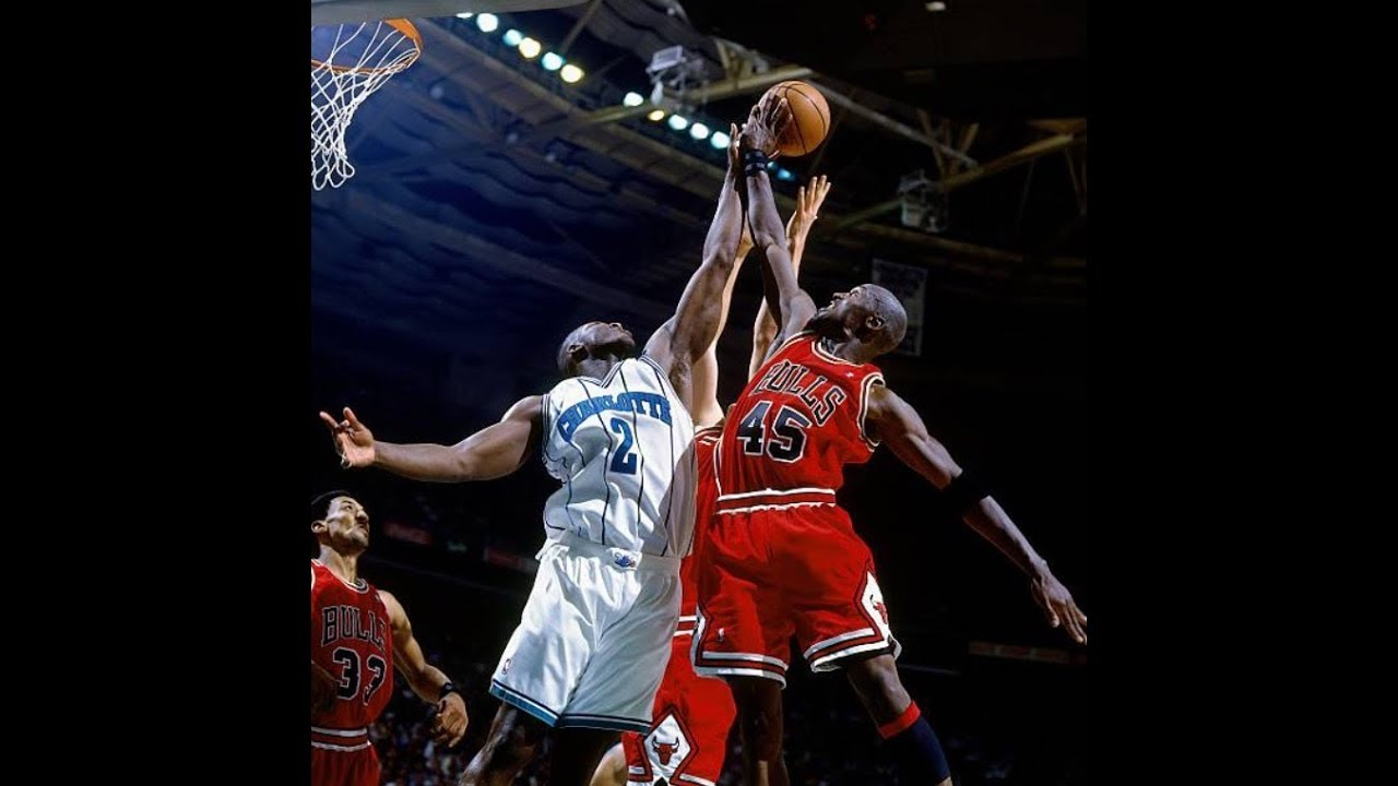 944251c6c7b Michael Jordan 1995 Playoffs Game 2: 32 Points, 7 rebs, 7 assists v  Charlotte Hornets