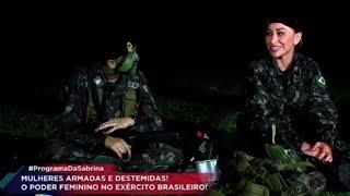 Sabrina visita a AMAN e conhece a rotina das mulheres do Exército Brasileiro