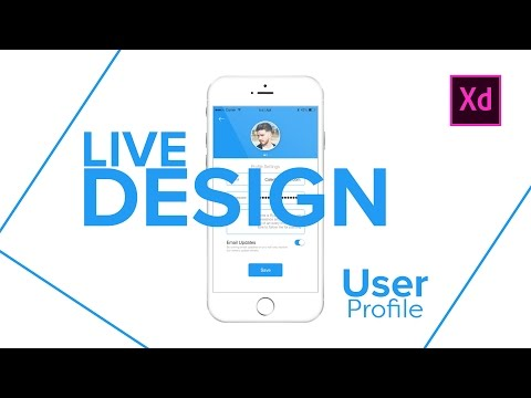 User Profile in Adobe Xd - UI Design