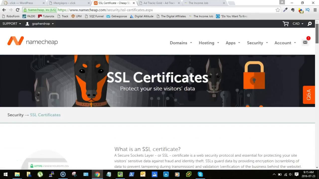 How To Install Ssl Certificate On Wordpress Namecheap Cpanel Youtube