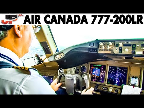 Piloting The AIR CANADA 777-200LR Out Of Toronto