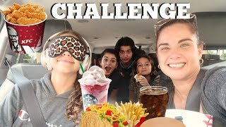 GUESSING THE FAST FOOD ITEM BLINDFOLD CHALLENGE !!!PART#1