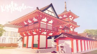 Kyoto Temple ⛩️ 🏮   The Sims 4 in Japan   Speed Build   W/CC + Download Links