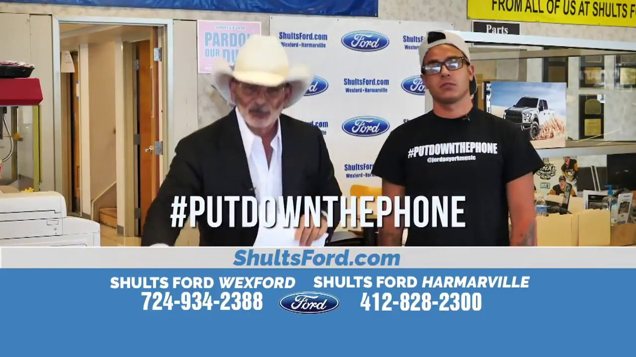 Jordan York Shults Ford Put Down The Phone Commerical Youtube