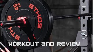 eTHOS Olympic Bumper Plate Set workout and review