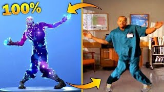 ALL *LEGENDARY* FORTNITE DANCES VS REAL LIFE..[SMOOTH MOVES, ORANGE JUSTICE, ELECTRO SWING]