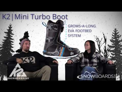2015 K2 Mini Turbo Kids Boot Overview By SnowboardsDOTcom