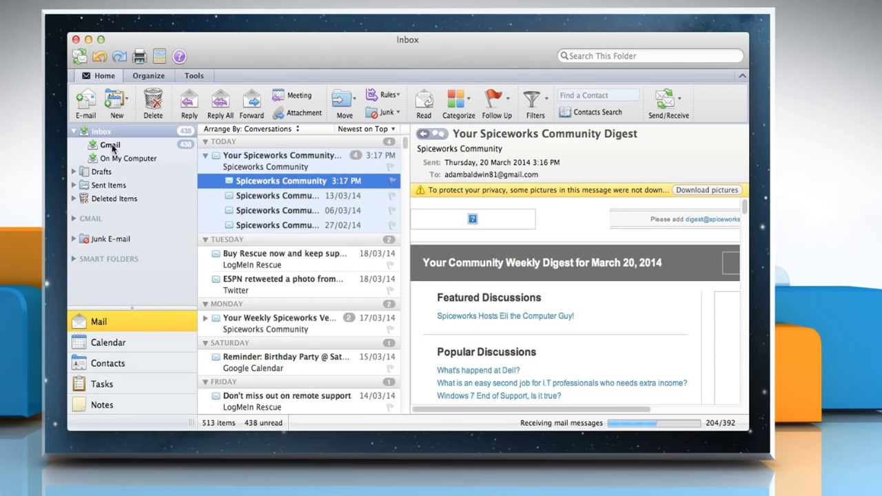 set up windstream email on mac