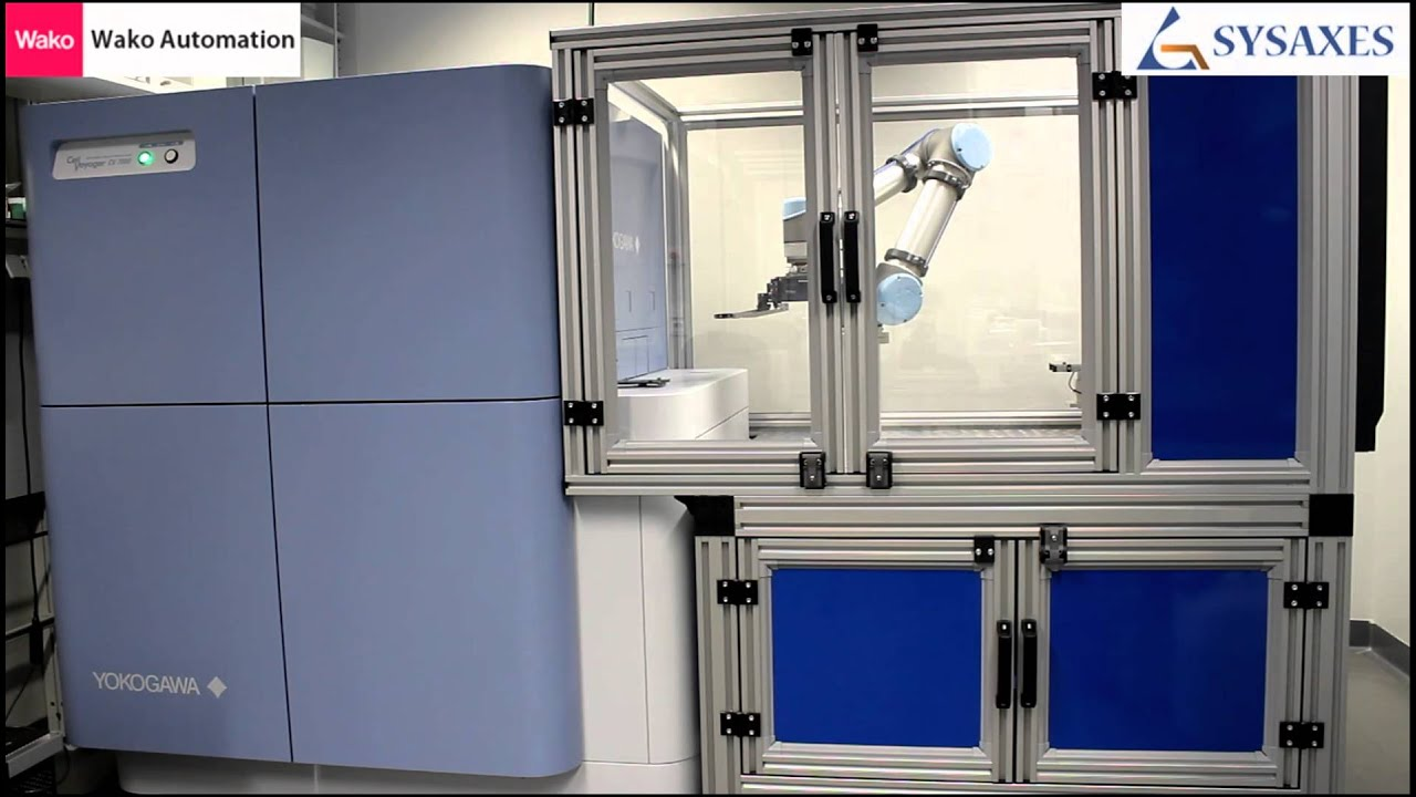 High Content Screening System With Robot Plate Feeder Wako