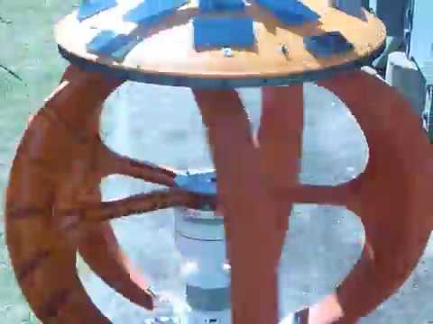 Rotating Solar Spins on Vertical Axis Wind Turbine.
