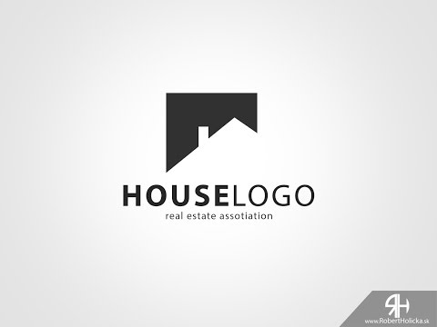 5 MINUTES: Create easy house logo in Photoshop tutorial
