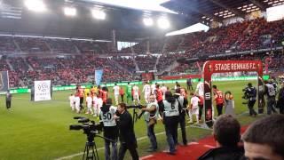 Stade Rennais - PSG entrée des joueurs et bro gozh ma zadou (14/12/2013)
