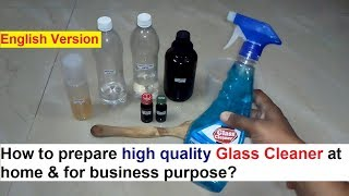 Glass Cleaner Making Process - 100% Real Formula
