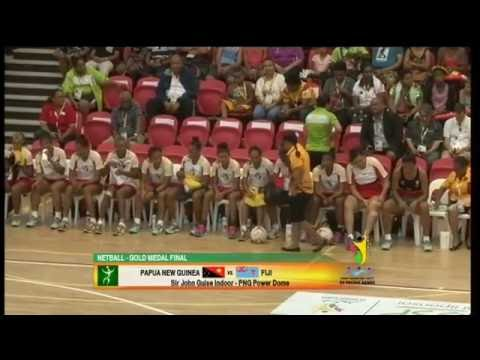 Pacific Games 2015  D15 NETBALL F GOLD  PNG vs FIJI