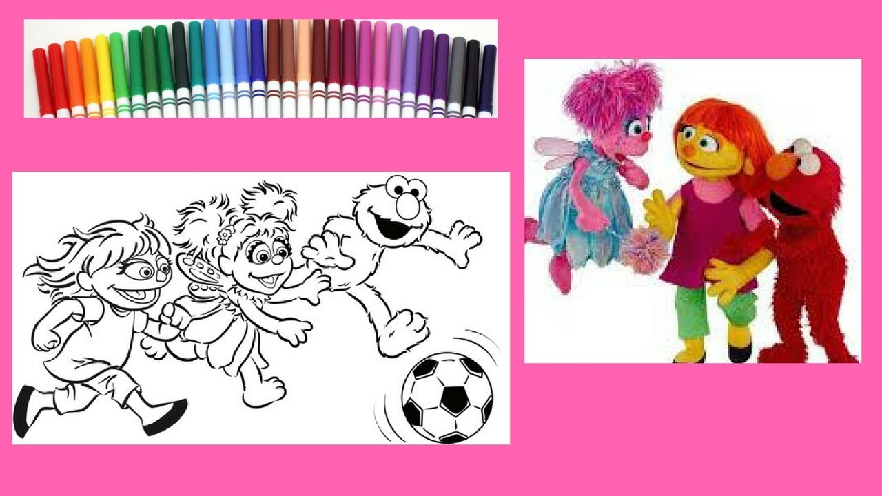 Sesame Street Coloring Book - Julia - Abby- Elmo - Speed Coloring ...