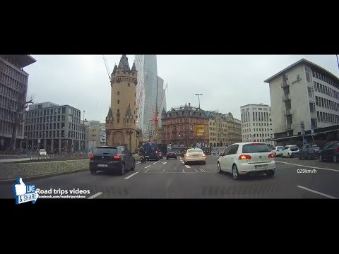 Driving in Frankfurt am Main / December 2017 / roadtrip