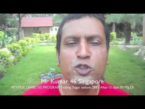Successful revere diabetes natural testimonial by SINGAPORE KUMAR