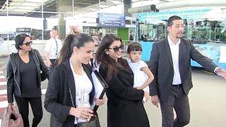 Exclusive - Aishwarya Rai and Daughter at Nice Airport