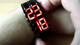 Exquisite Red LED Digital Wrist Watch (Black) «Iron Samurai»