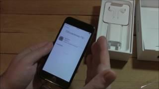 iPhone 7 - распаковка, включение и....первое впечатление!