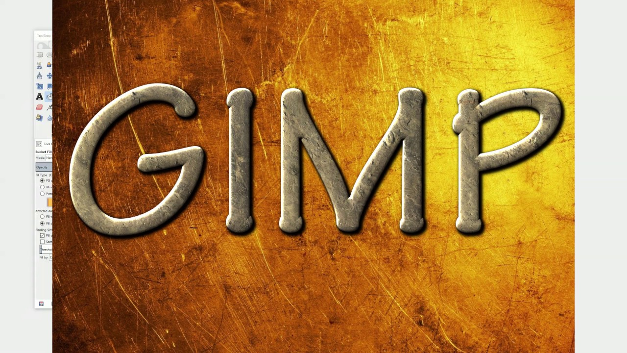 Gimp text effects youtube