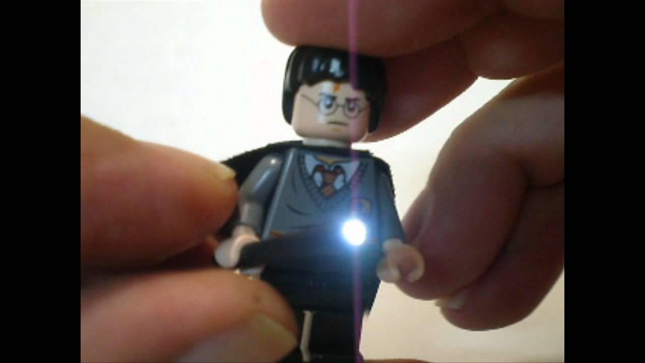 "new lego harry potter ""custom light-up wand "".by pakojontas - youtube"