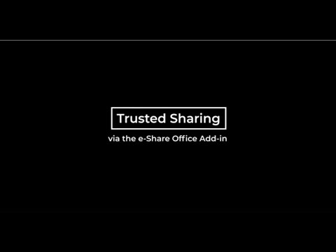 Trusted Sharing from Within Office Apps