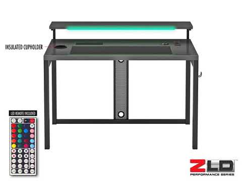 Z Line Designs Series 11 Computer Desk With Wireless Charging Pad