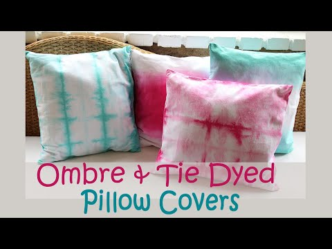 Ombre And Tie Dyed Pillows Diy Decor Youtube