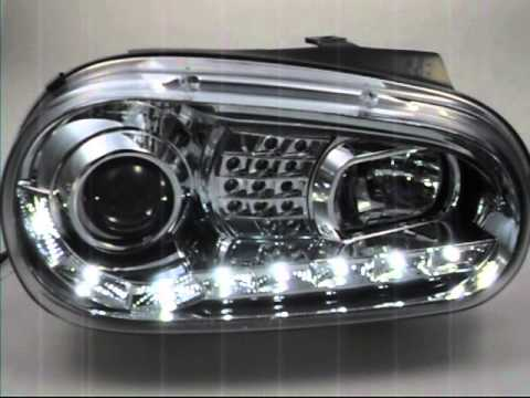 sw light scheinwerfer vw golf 4 chrome led blinker sw. Black Bedroom Furniture Sets. Home Design Ideas