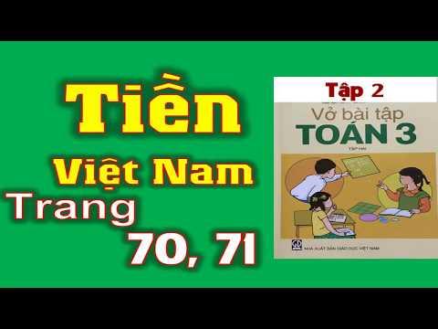 Vở Bài Tập Toán 3 tập 2 Trang 70+71- Bài 144 Tiền Việt Nam