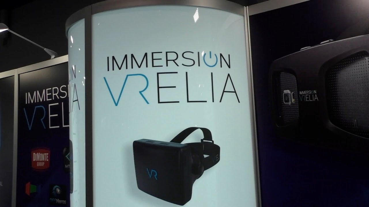 e98547a88cc8 ImmersiON VRelia Go and Pro Virtual Reality Headsets from CES 2015 - YouTube