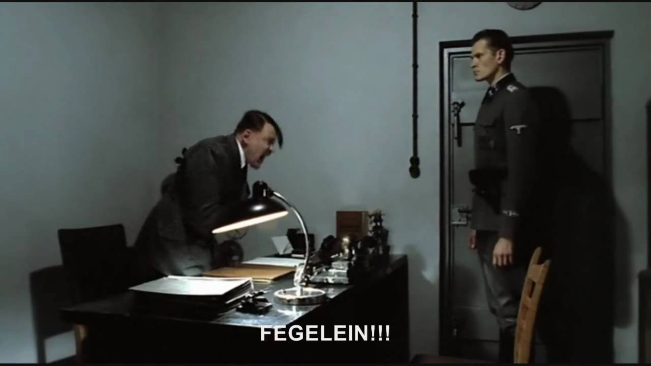 Hitler is informed that his iPad rant was uploaded to YouTube