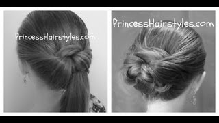 Repeat youtube video Tuck And Wrap Bun Or Ponytail - Easy Hairstyles