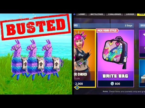 *BUSTED* Find 3 Llamas in 1 GAME to UNLOCK 'Brite Bag' in FORTNITE! (Fortnite Mythbusters)