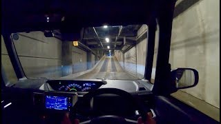 【Test Drive】 2019 Daihatsu WAKE SA 660cc Turbo 4WD - POV Night Drive