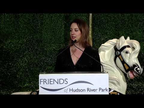 Sarah Hughes Introduction Speech at Friends of Hudson River Park Dinner