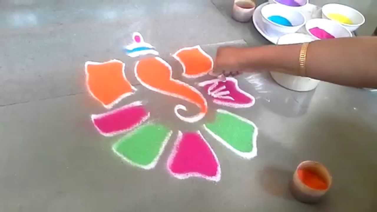 Top Ganesh Chaturthi Rangoli Photo Gallery for free download