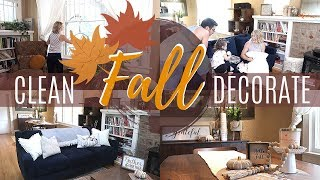 🍂2019 FALL CLEAN AND DECORATE WITH ME | FALL HOME TOUR | CLEANING MOTIVATION | SAHM