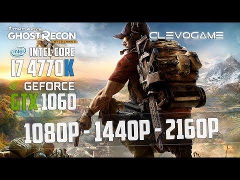 GHOST RECON WILDLANDS - GTX 1060 6GB - i7 4770K - 1080p - 1440p - 4K - FRAMERATE TEST   СlevoGame  