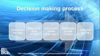 Decision making process | How to Write the ISMS Policy According to ISO 27001