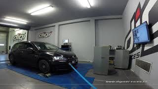VW Golf 7 GTI perf 230cv DSG Reprogrammation Moteur @ 304cv Digiservices Paris 77 Dyno