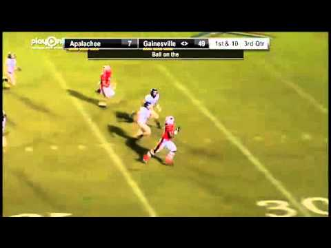 Gainesville's Fred Payne 90 yd kickoff TD