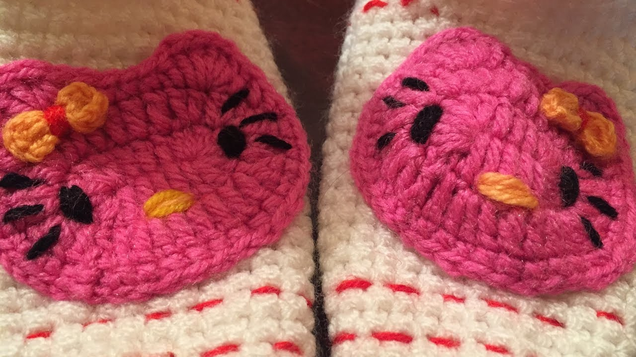 dee25fe4a014 Crochet Hello Kitty Face Step By Step - YouTube