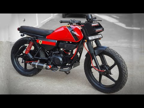 Hero Honda CD Deluxe modified into cafe Racer | Custom Built | Speed Demonz