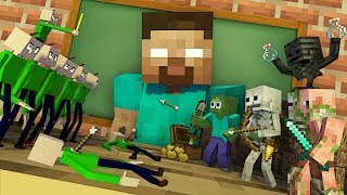 Monster School : TINY BALDI APOCALYPSE - Minecraft Animation
