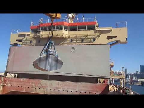 Bulk Carrier Unloading Grain Gantry